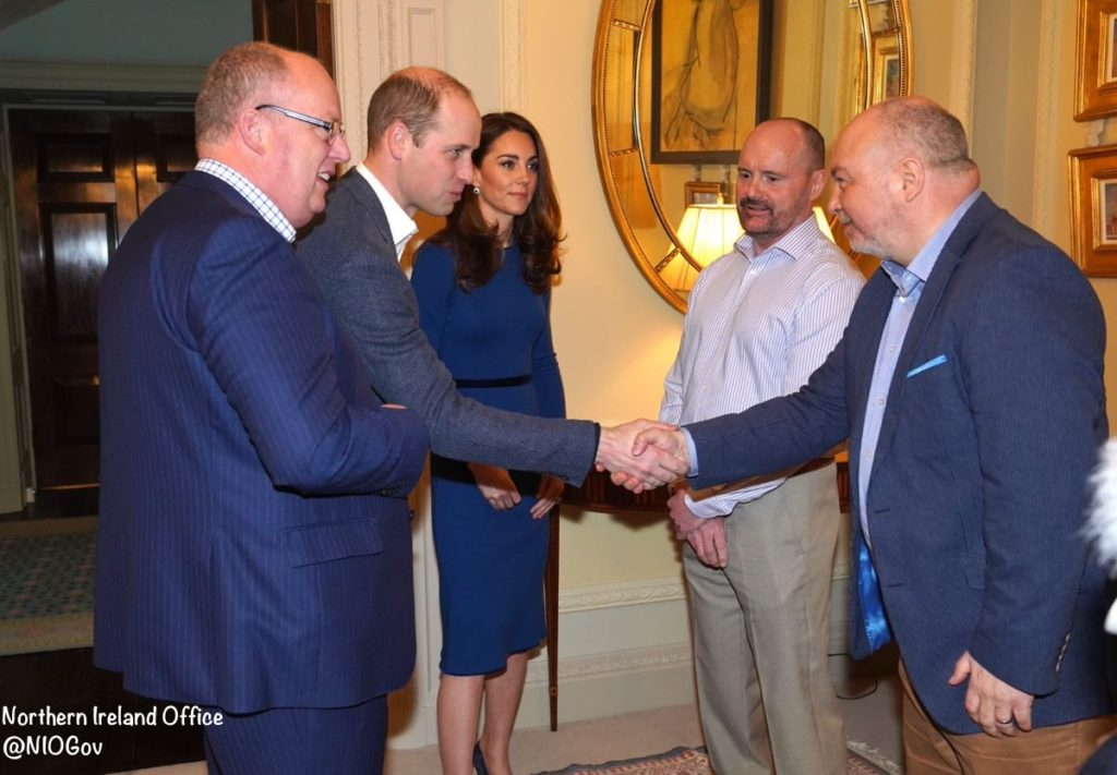 Kate in Blue Hues for Day Two of Northern Ireland Trip