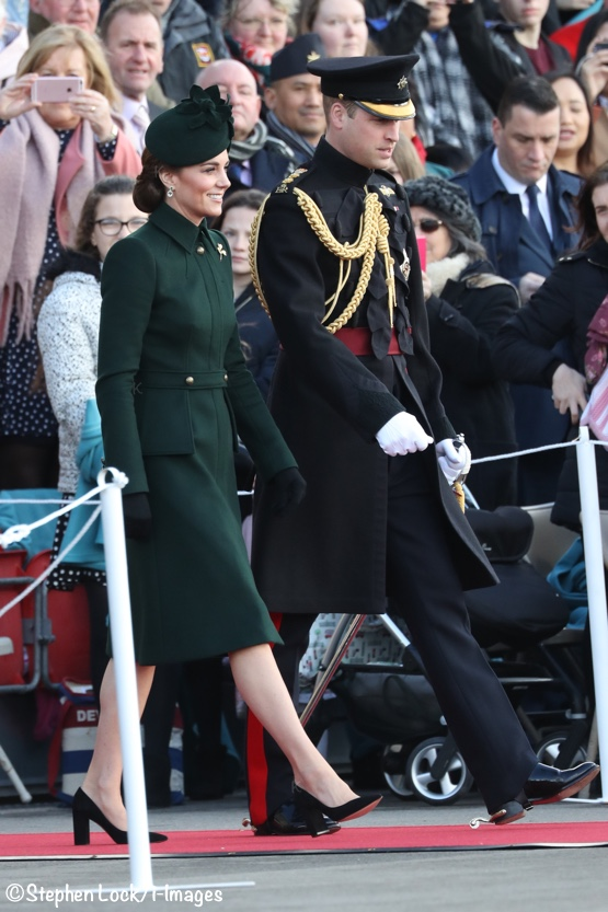 1b20bd06 The Duchess wore a new coat by Alexander McQueen for the annual St.  Patrick's Day Parade and Shamrock Ceremony with the Irish Guards today.