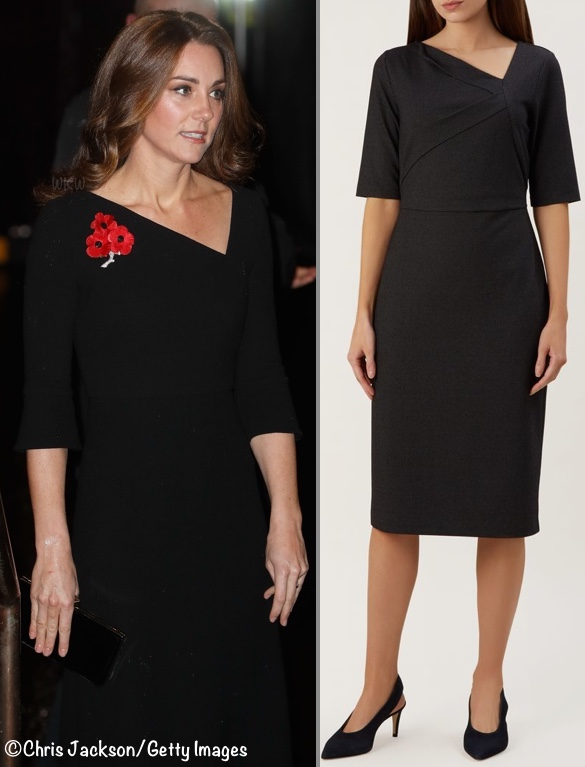 repliKate Middleton Roland Mouret Dress Festival Remembrance