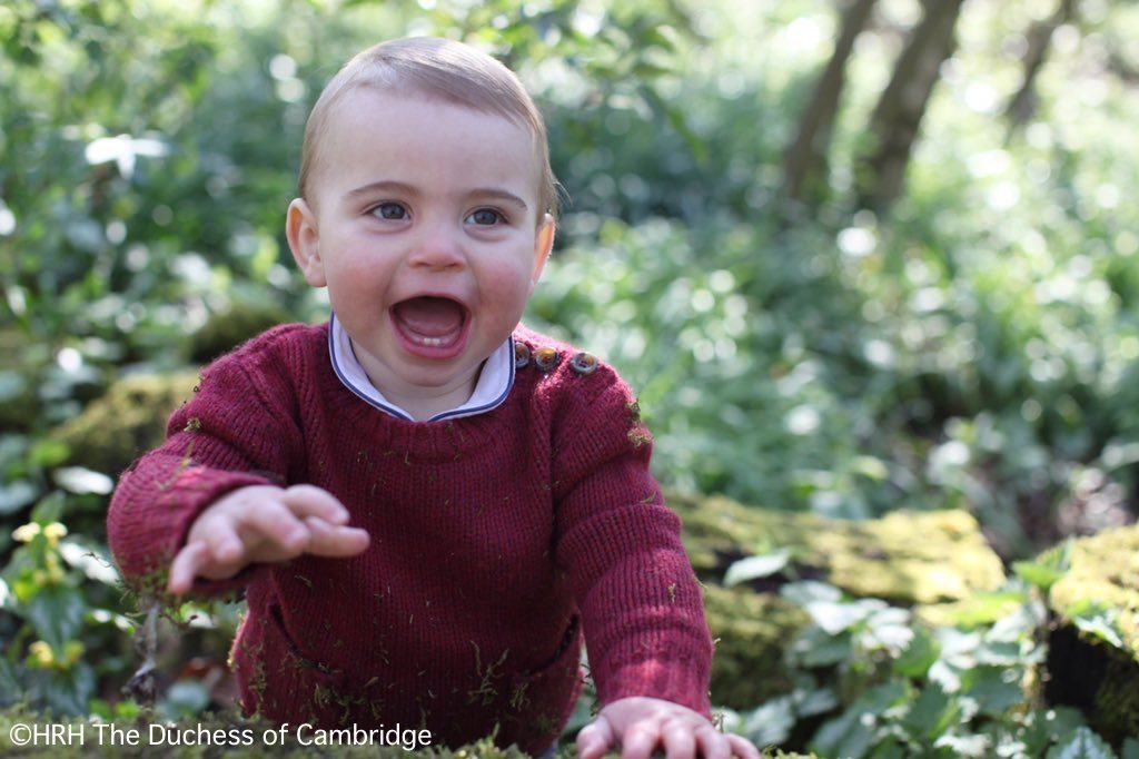 New Photos Of Prince Louis Released To Mark His 1st