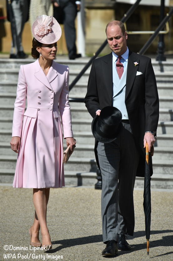 b6ad36c8607 Kate wore a new Alexander McQueen coat dress for today s garden party at  Buckingham Palace.