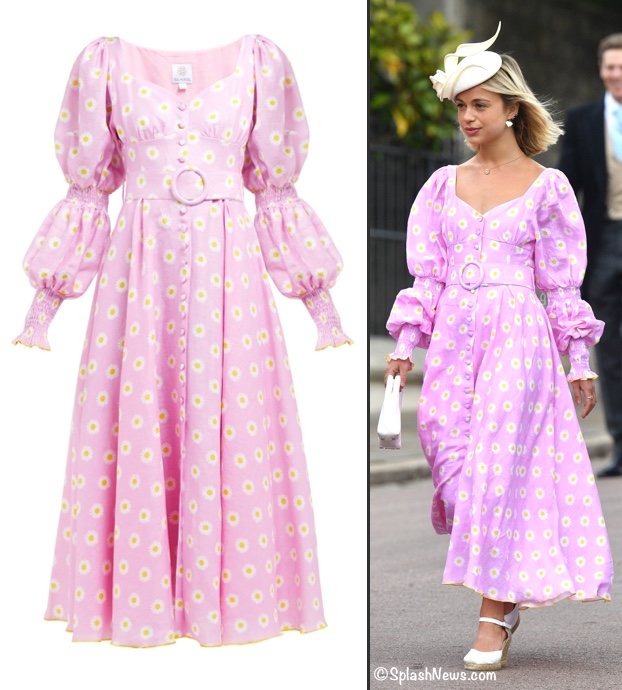 Gabriella Windsor Wedding Amelia Gul Hurgel Dress Pink