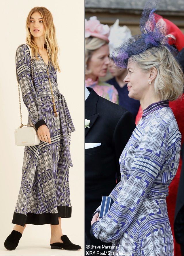 Lady Helen Taylor Amanda Wakeley Lattice Dress Gabriella Windsor Wedding