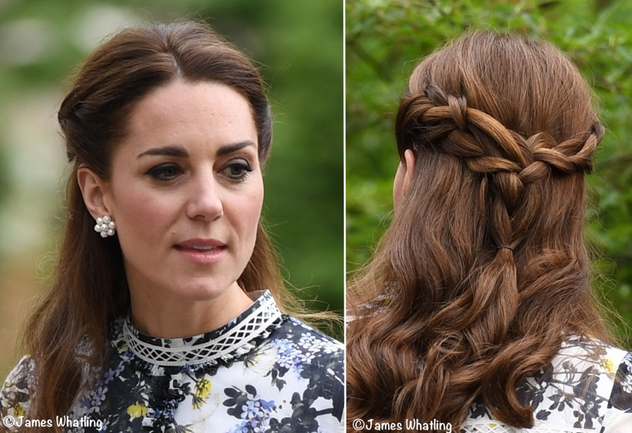 735ccee478b2e It s Erdem for Royal Visit to Chelsea Flower Show - What Kate Wore