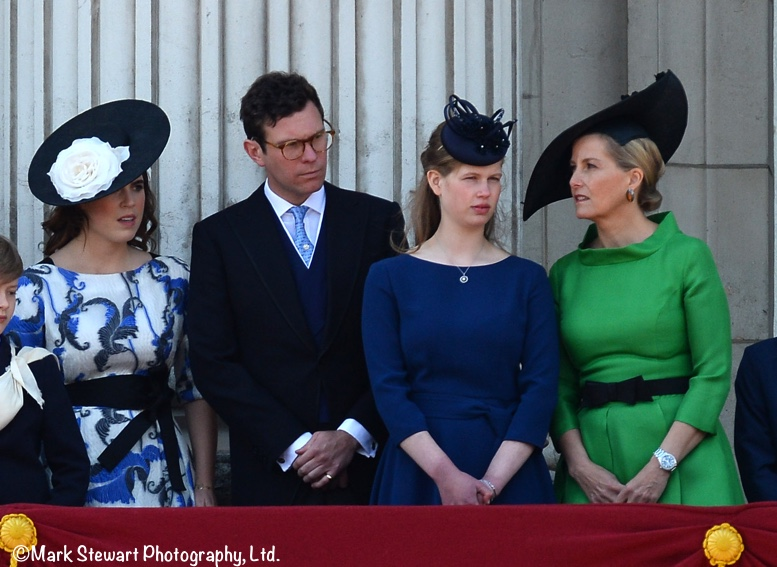 Trooping Eugenie Jack Brooksbank Lady Louise Sophie Wessex Balcony