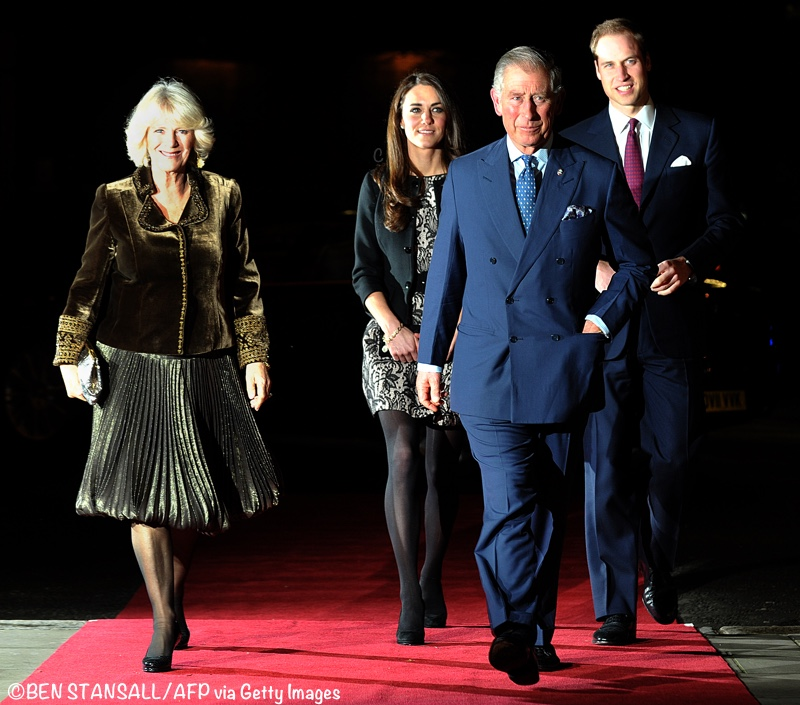Charles Camilla Kate William Gary Barlow Concert Zara Tulip Dress