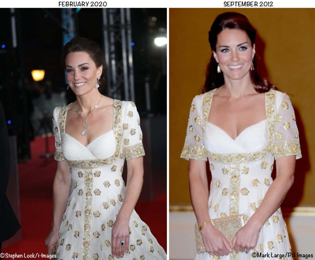 Kate Brings Back 2012 Jubilee Tour Gown for 2020 BAFTA Awards - What Kate  Wore