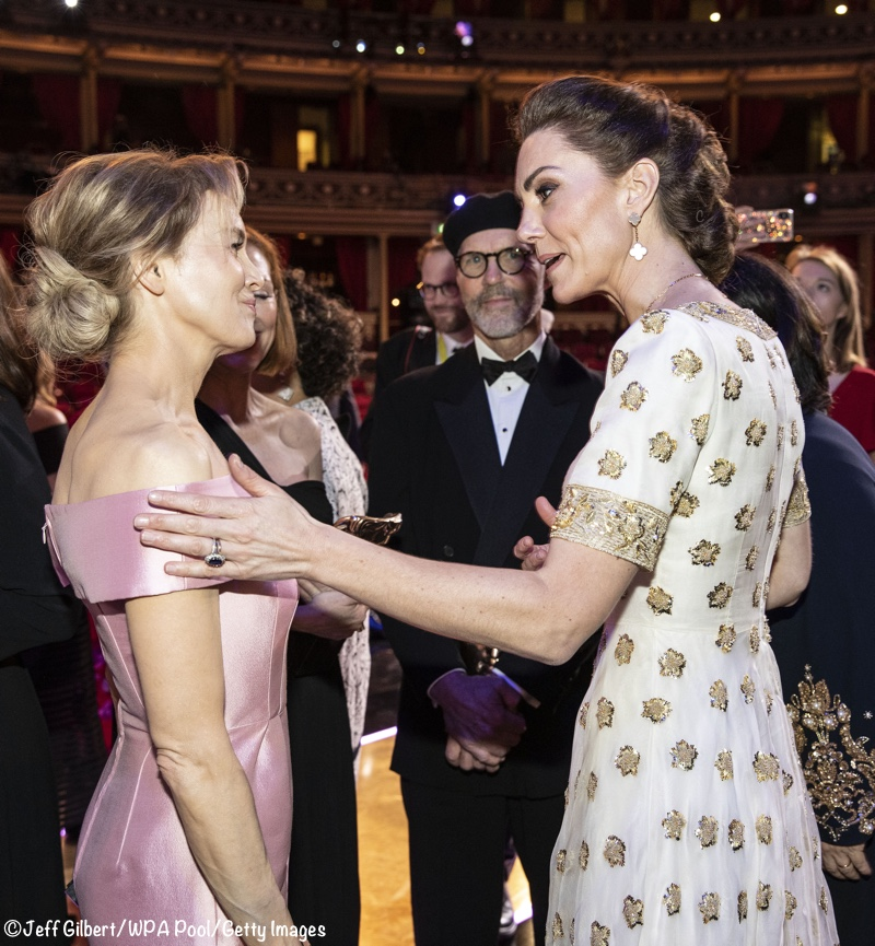 Kate Middleton Duchess Cambridge Renee Zellweger BAFTAs