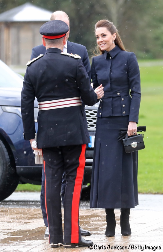 Kate middleton navy McQueen Suit Defence Rehab Centre Feb 2020
