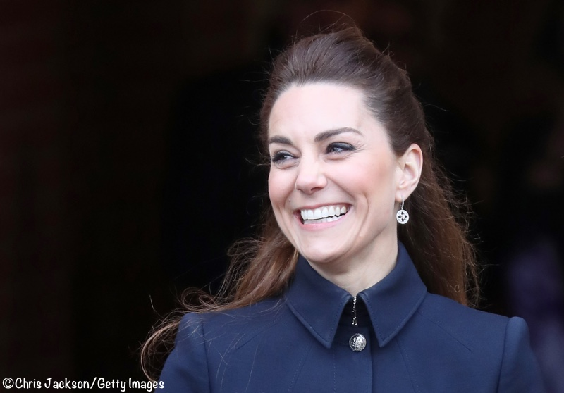 Kate Middleton Defence Rehab Navy McQueen Suit Military Style