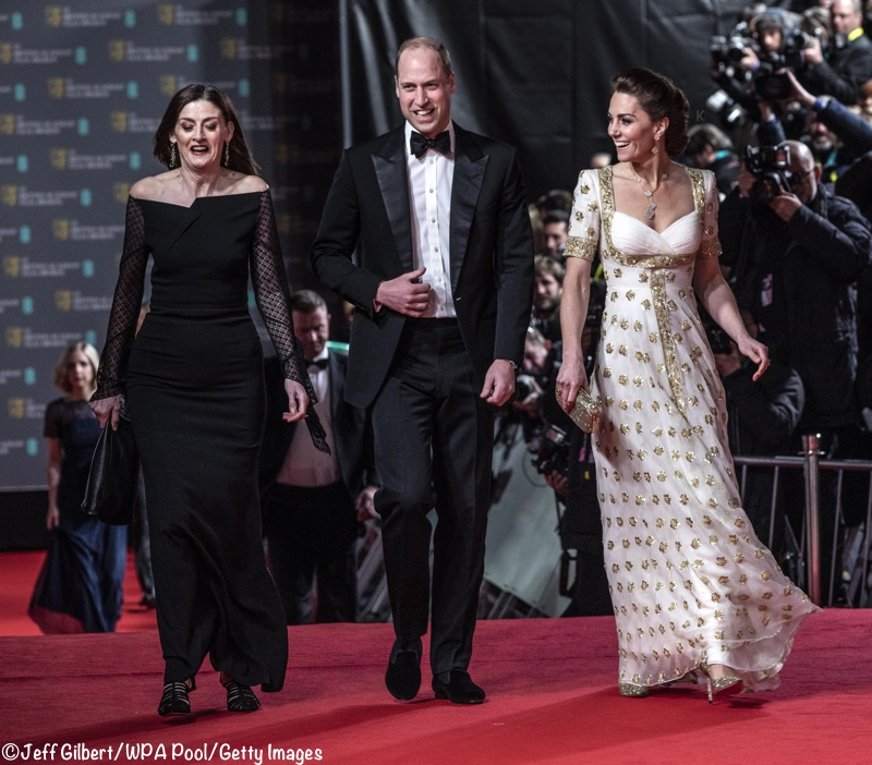 Kate William 2020 BAFTA AWards McQueen Gown