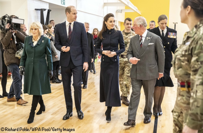 Duke Duchess of Cambridge Prince Charles Duchess of Cornwall Joint engagement photos