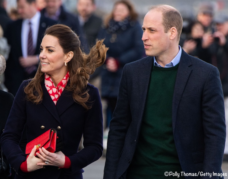 Duke Duchess Cambridge Mumbles Wales Navy Hobbs Binca Coat