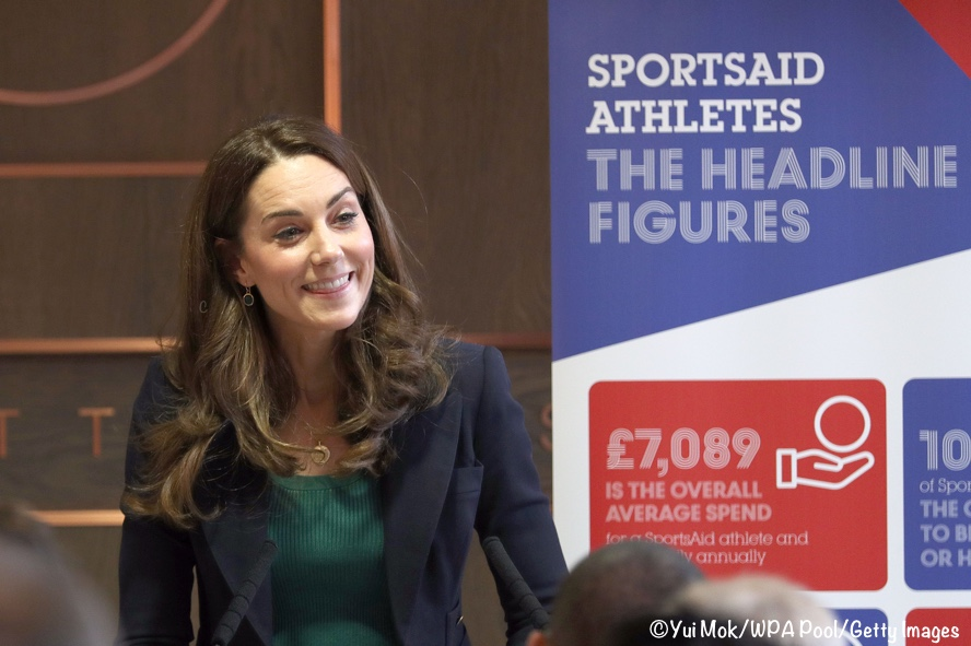 Kate Middleton speech SportsAid Smythe blazer