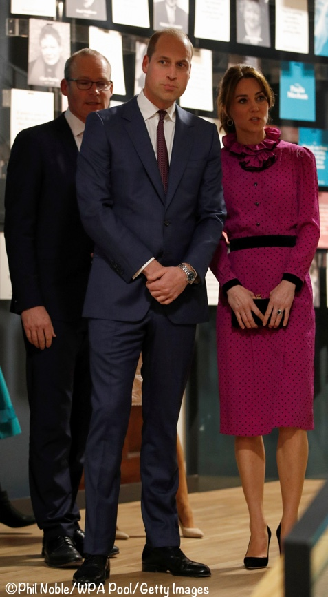 Duchess Kate Middleton vintage purple oscar de la Renta Ireland