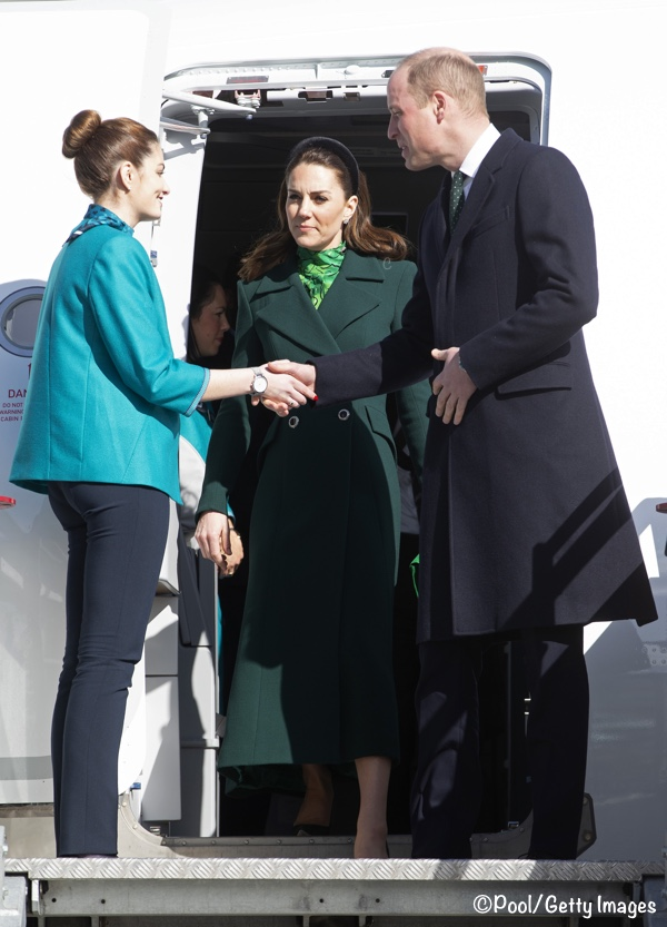 Kate Middleton Dublin Ireland Arrival Green Catherine Walker