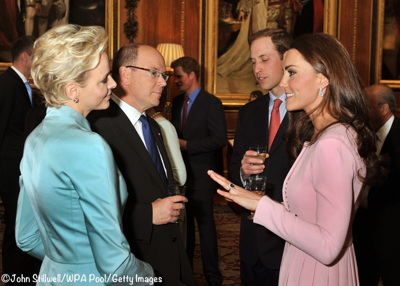 Kate Middleton Princess Charlene Pink Alice Emilia Wickstead dress